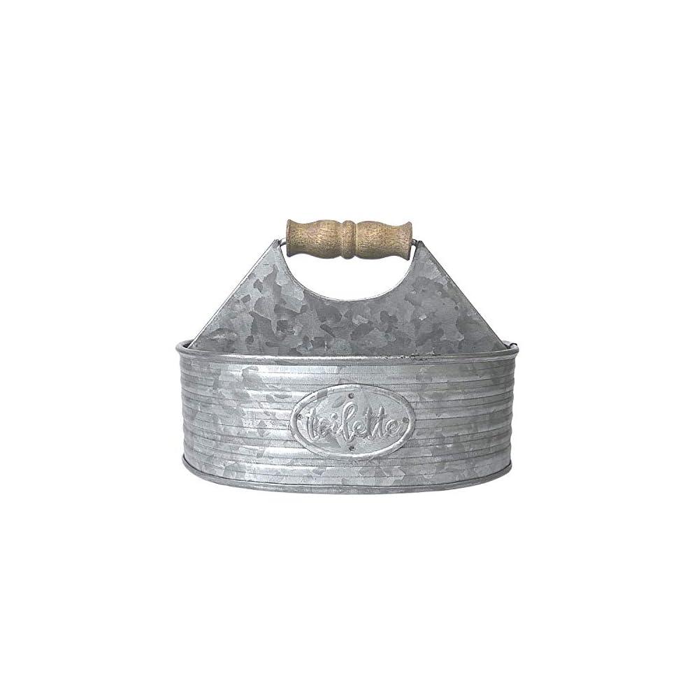 Autumn Alley Rustic Farmhouse Bath Caddy for Shower – Toiletries Countertop Organizer for Bathroom – Industrial Chic…