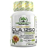 CLA 1250mg Supplement Conjugated Linoleic Acid Natural High Potency Non GMO Safflower Oil 198 Softgels Count Nutrition In A Bottle Diet Exercise Weight Loss Fat Burner Management Men And Woman