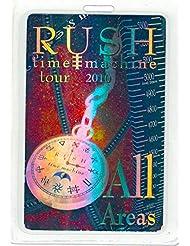 """Rush Tour Laminate Metallic Backstage Pass Time Machine Tour '10""""All Areas"""""""