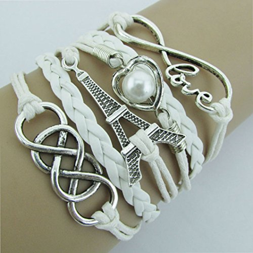 DZT1968 Infinity Friendship Leather Bracelet
