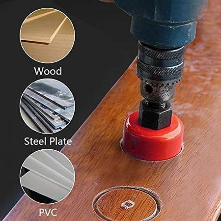 M42 HSS sierra perforadora 15-200 mm bi-metal perforadora broca perforadora herramienta de corte para madera aluminio hoja de hierro tubo pl/ástico rojo TOOLSTAR sierra perforadora bimetal