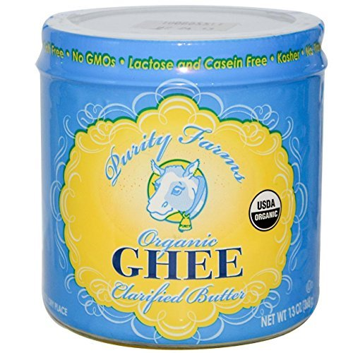 Purity Farms Organic Ghee Clarified Butter, 7.5 Ounce (Pack of 6) by Purity Farms