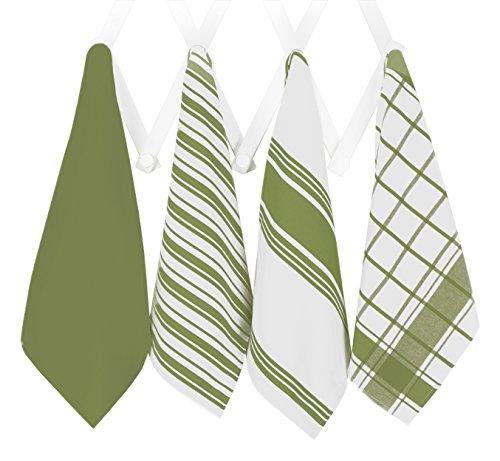All-Clad Professional Grade Lint Free, Streak Free Oversized Luxury Cotton Towel Set, 4-Piece, Sage Green