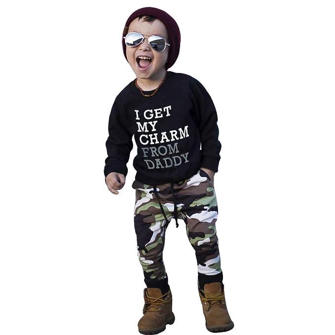 Bestow Letras de Invierno Pantalones de Camuflaje Traje para niños ...