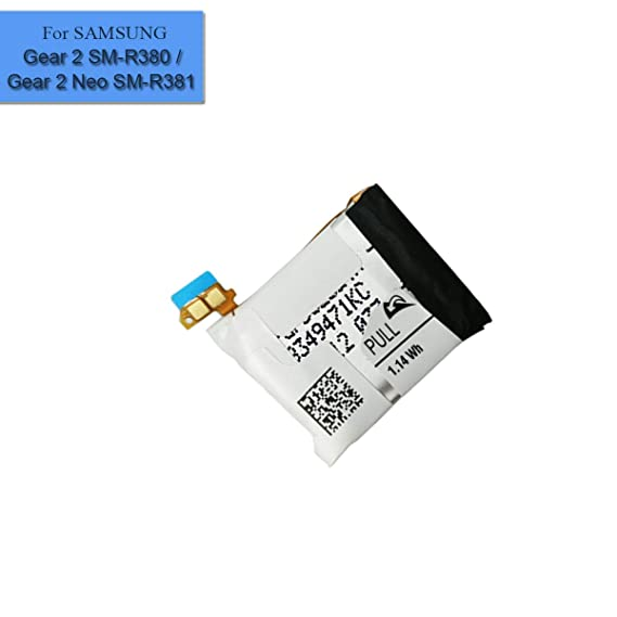 New Replacement Smart Watch Battery SM-R380 SM-R381 Compatible with Samsung Galaxy Gear 2 Gear 2 Neo SM-R380 SM-R381