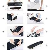 Skateboard Grip Tape Sheet, 45.2x10.6 inch,Bubble