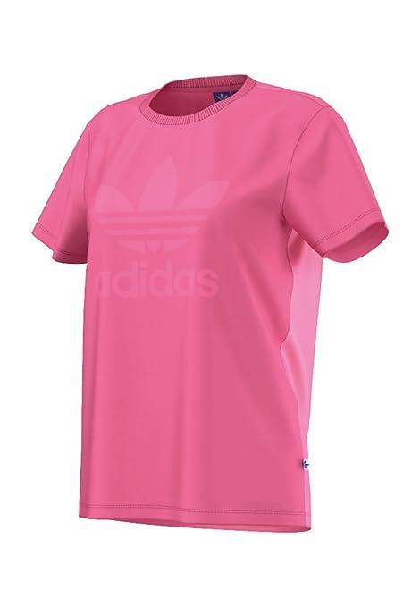 Camiseta adidas – Bf Trefoil rosa talla: 34 S (Small)