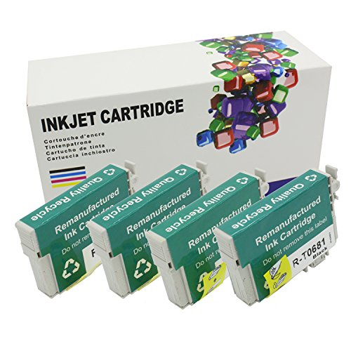 HI INK 4 Pack Remanufactured High Yield T068 ink Cartridges For Epson T068 Ink Cartridges (Epson 69 Compatible Black Ink)