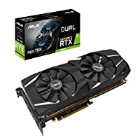 ASUS DUAL-RTX2080TI-A11G Advanced Edition 11G VR Ready Gaming Graphics Card - Turing Architecture