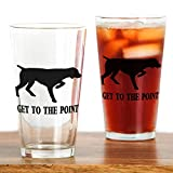 CafePress - GET TO THE POINT Drinking Glass - Pint Glass, 16 oz. Drinking Glass