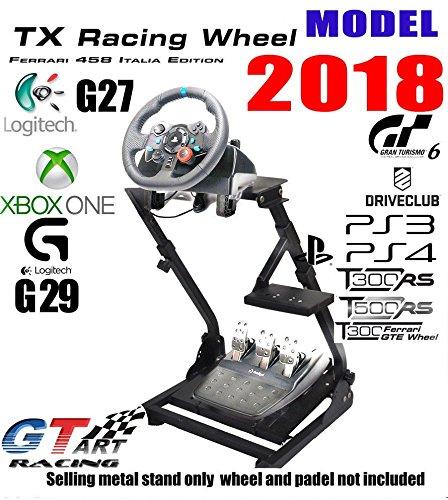 Gt art Racing Simulator Steering Wheel Stand for logitech G29 G920 thrustmaster T300 (Steering Ferrari Wheel F430)