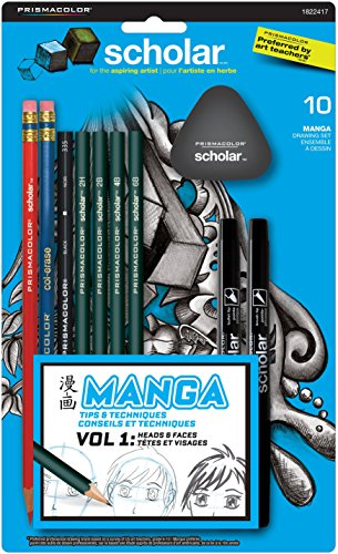 Prismacolor Scholar Manga Drawing Set, 10 Piece Kit