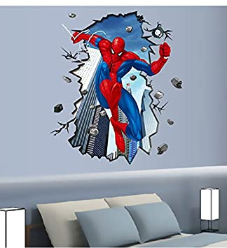 G6shopping 3D Removable Spiderman Wall Decal Sticker for Youth Room