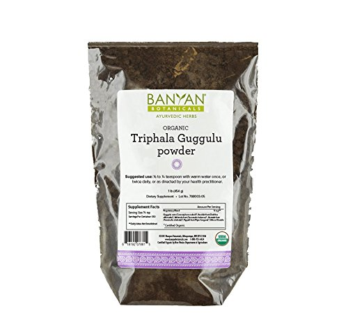 Banyan Botanicals Triphala Guggulu Powder - Certified Organic, 1 Pound - Detoxification and support for metabolic function*