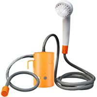 Portable Outdoor Shower, 2 Flow Mode, 4400mAh Battery Powered Shower Pump for Hiking/Backpacking, Travel, Beach, Pet…