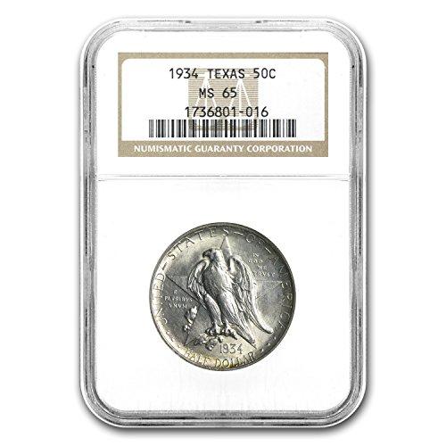 1934 Texas Half Dollar MS-65 NGC Half Dollar - Five Dollar 1934