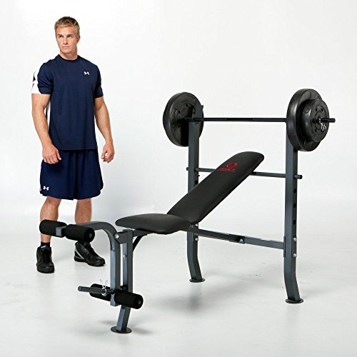 Marcy Diamond Standard Bench with 80 lb. Weight Set – DiZiSports Store