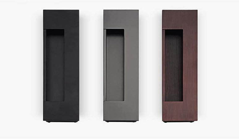 CLL-mls Aleación de Zinc Negro empotrada Moderna Minimalista manija de la Puerta corredera Oculta cajón de la manija de la Puerta manija de la Puerta del Granero Puerta del Armario: Amazon.es: Hogar