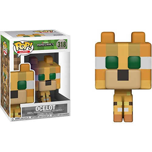 Funko Ocelot: Minecraft x POP! Games Vinyl Figure & 1 PET Plastic Graphical Protector Bundle [#318 / 26385 - B]]()