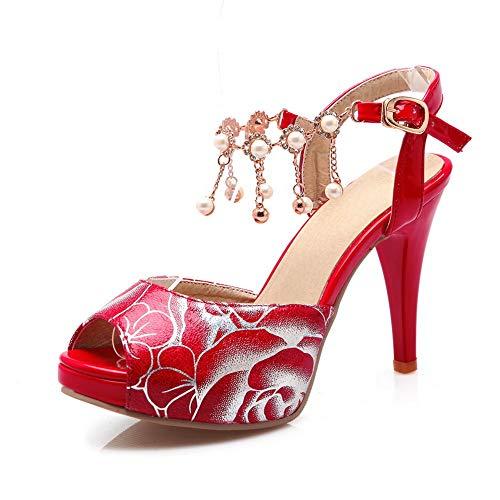 Ballerine Donna 35 AdeeSu EU Rosso Red SLC04371 5wSUnnzqZv