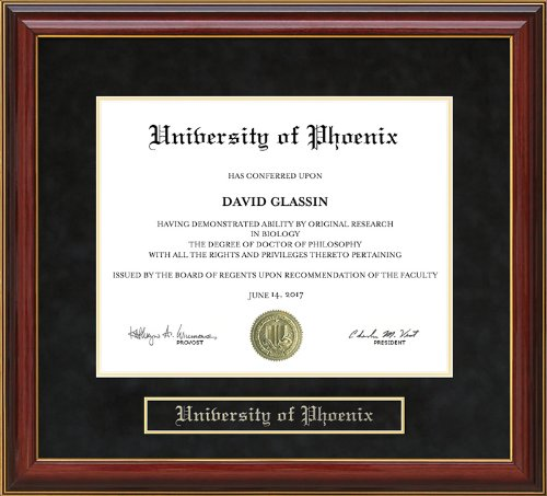 University of Phoenix Diploma Frame - Mahogany by Wordyisms