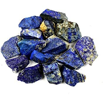 Bingcute 1lb Bulk Raw Rough Lapis Lazuli Stones Raw Natural Stones for Tumbling,Cabbing,Polishing,Wire Wrapping,Gem Mining, Wicca and Reiki Crystal Healing-Large 1