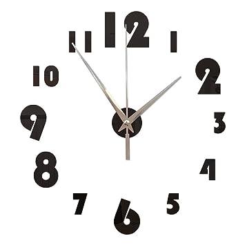 GOUZI Acrílico Reloj Digital de Pared Pared Pared removible Adhesivo Adhesivo para la Pared de Fondo Dormitorio Salón baño Estudio Barber Shop: Amazon.es: ...