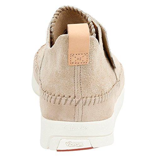 Clarks Heren Suede Trigenic Flex Sneakers Zand