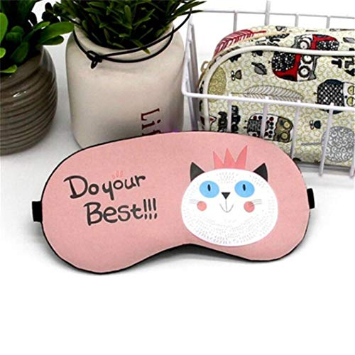 LZIYAN Sleeping Mask Cartoon Cat Sleep Eye Mask Breathable Travel Shade Cover Rest Relax Sleeping Blindfold Eye Patch,Pink by LZIYAN (Image #4)