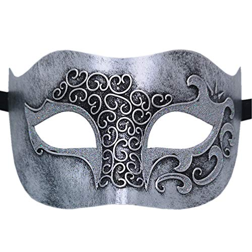 Carnival Themed Outfits (Masquerade Mask for Venetian Men Costume Mask/Party/Ball Prom/Halloween/Mardi Gras/Wedding(Silver Relief)
