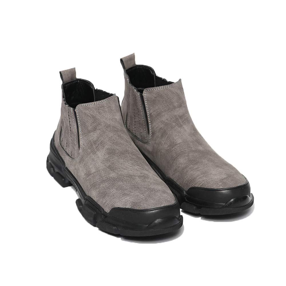 ZHRUI ZHRUI ZHRUI Chelsea Stiefel für Männer Durable Non Slip Lässige Sohle Komfort Atmungsaktive Stiefel (Farbe   Grau, Größe   EU 41) 241983