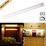 Under Cabinet LED Light Bar Touch Design LED Light Tube 30CM USB Powered Wardrobe Light Strip Dimmable Lighting Lamp Warm White for Closet Cupboard Cabine Kitchent Closet Hallway Warm White