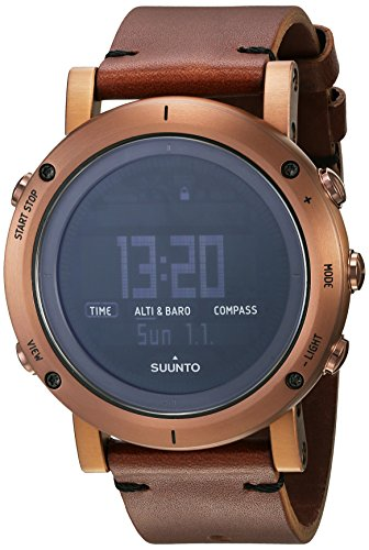 Suunto Essential Digital Dial SS Leather Quartz Men's Watch SS021213000
