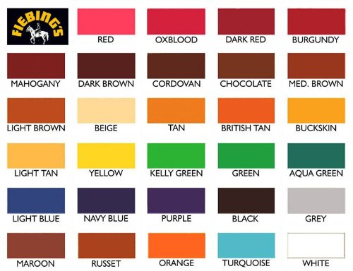 fiebing s leather dye color chart - Dolap.magnetband.co