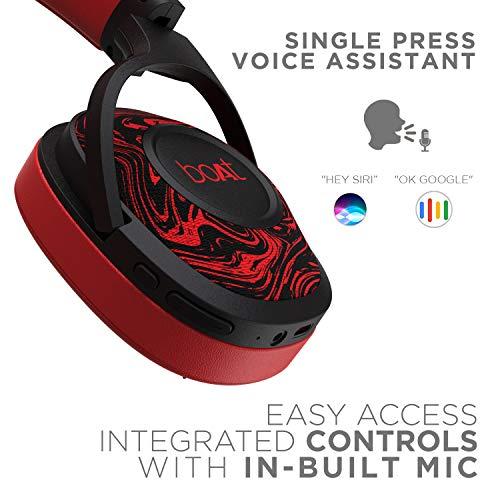 boAt Rockerz 550 Over-Ear Wireless Headphone with Ergonomic Aesthetics, Plush Padded Earcups, Immersive Audio, Bluetooth v5.0 & Upto 20H Playback(Red)