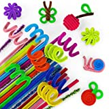 Arteza Chenille Stems, Set of 650 Colored Sparkle Pipe Cleaners, 10 Glitter Colors (100 psc), 25 Vibrant Colors (550 psc) for DIY, Arts & Crafts, Decorations (6mm x 12 inch)