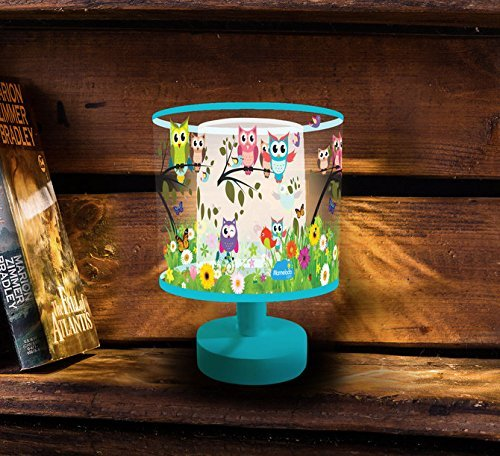 Night Light for Kids, Marmelada Lights, 3D Mini Lampshade Story Series Owls in the Meadow, LED Bedside Kids, Baby, Children Night Lamp Bookshelf, Tabletop, Battery operated 2 months runtime.