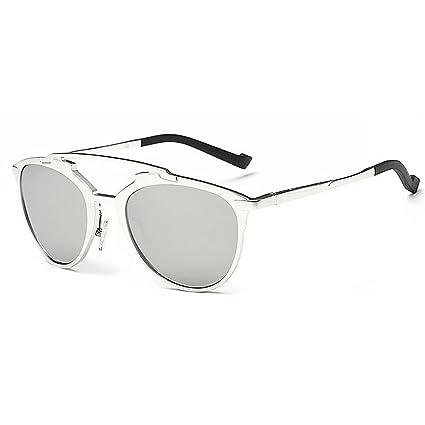 Peggy Gu Gafas de Sol polarizadas pequeñas de los Hombres ovales Marco Completo de Aluminio y