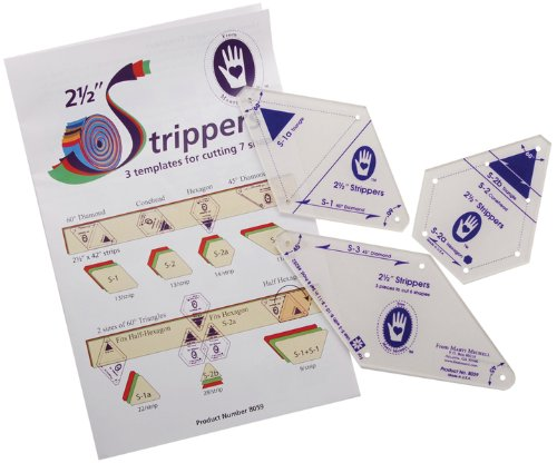 2-1/2'' Strippers Templates-3 Templates For 7 Shape 1 pcs sku# 644461MA by Marti Michell