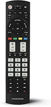 Thomson ROC1128PANASONIC - Mando a Distancia Compatible con televisores de la Marca PANASONIC, Color Negro: Amazon.es: Electrónica