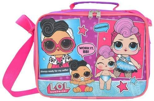 LOL SURPRISE GIFT INSULATED LUNCH BOX BAG GIRLS PINK TRAVEL SNACK BOX BABY DOLL