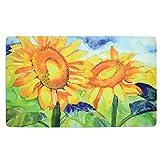 Kitchen Rugs Etsy Sunflowers 18 x 30 Inch Soft Touch Kitchen Mat