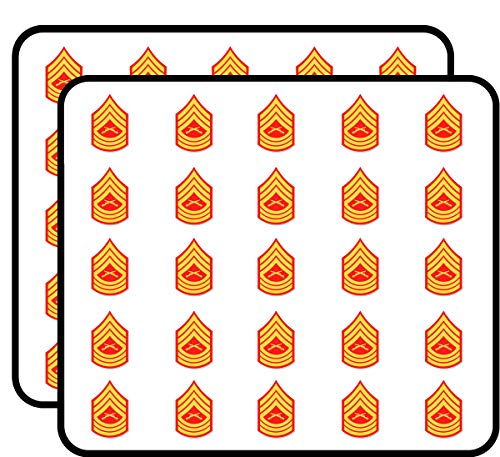 USMC E Msg Master Sergeant Rank Sticker for Scrapbooking, Calendars, Arts, Kids DIY Crafts, Album, Bullet Journals 50 Pack