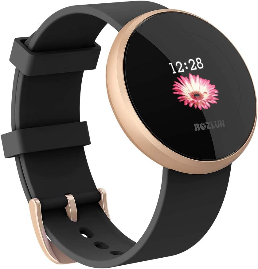 Womens Smart Watch, Lightweight Smart Watch for Women, 1.04 inch IPS Color Touch Screen, Fitness Sleep Monitor Waterproof Call Reminder with Text GPS ...