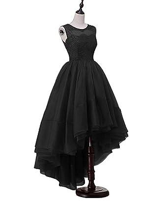 CCBubble High Low Black Prom Dresses 2018 A Line Formal Party DressCXY074OBlack-US2
