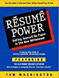 Resume Power : Selling Yourself on Paper, Washington, Tom, 0931213061