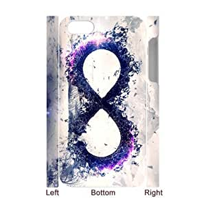 WXSTAR Fashion infinity infinity Custom Luminous Case for IPhone 4/4s 3D
