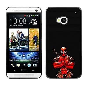 Caucho caso de Shell duro de la cubierta de accesorios de protección BY RAYDREAMMM - HTC One M7 - Ninja Warrior héroe