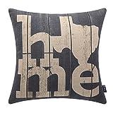 TRENDIN 18'' X 18'' Vintage Farmhouse Home Linen Cushion Cover Sofa Throw Pillow Case PL146TR