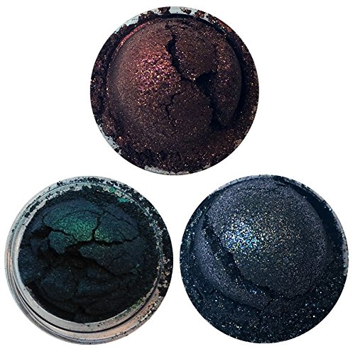 Shiro Cosmetics Eye Shadow Indie Makeup Trio - Umbra, Corona, Lingered in Twilight (2.0 grams each)]()